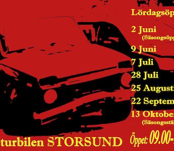 Returbilen Storsund, datum för lördagsöppet